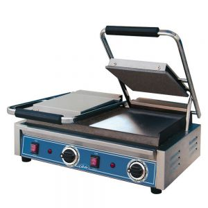 Bistro Size Double Panini Grill with Smooth Plates