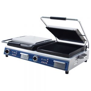 Deluxe Size Double Panini Grill with Smooth Plates