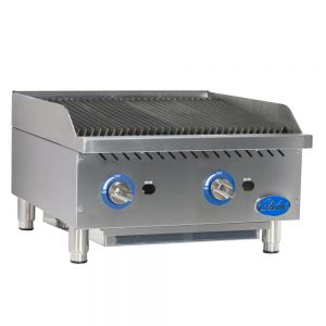 "24"" Gas Charbroiler with Cast Iron Radiants"