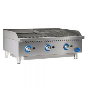 "36"" Gas Charbroiler with Cast Iron Radiants"