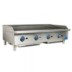 "48"" Gas Charbroiler with Cast Iron Radiants"