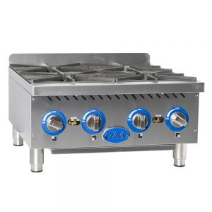 "24"" Gas Countertop Hot Plate - 4 Burners"