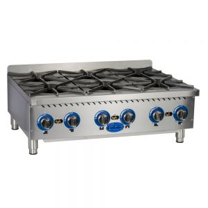 "36"" Gas Countertop Hot Plate - 6 Burners"