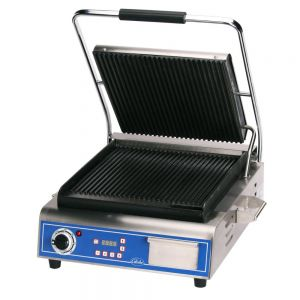 Deluxe Size Panini Grill with Grooved Plates