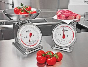 "32 Oz Stainless Steel Portion Scale W/ Rotating Dial, Air Dashpot and 11"" Bowl"
