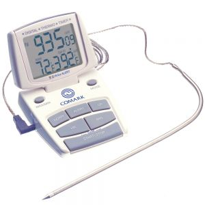 High-Low Cooking and Cooling Alarm w/ Temperature Probe (14 to 392F)