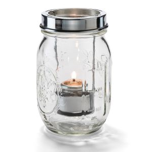 Firefly Canning Jar Candle Holder - Clear