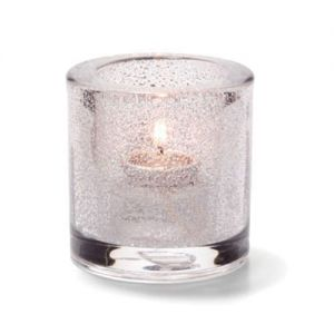 Tealight Lamp, Thick Glass, Round, Clear Jewel