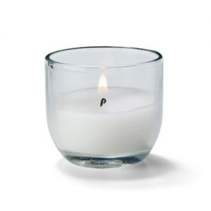Disposable Candle in Clear Glass Container, 5 Hour, 2H x 1-7/8 Diameter, Case Pack Of 48