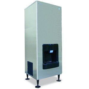 Serenity Series 476 Lb Crescent Cube Hotel Ice Machine and Dispenser w/ 140 Lbs Storage