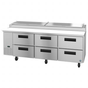 "Hoshizaki PR93A-D6 Steelheart 93"" Pizza Prep Table with Drawers"