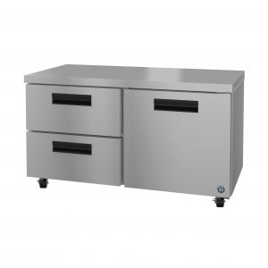 """Hoshizaki UR60A-D2 Steelheart 60"""" Undercounter Refrigerator with One Door and Two Drawers"""