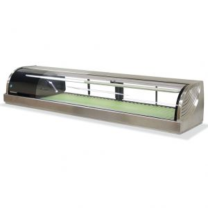 Refrigerated Left Sushi Display Case 71 Inches