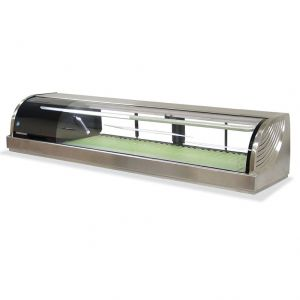 Refrigerated Left Sushi Display Case 59 Inches