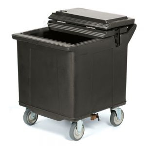 125 Lb Cateraid Mobile Ice Caddy with 4″ Wheels - Black