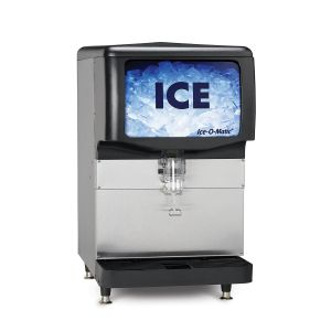 Countertop Ice Dispenser for 22″ ICE Series Cubers or 21″ Pearl Ice Machines w/ 150 Lb Ice Storage