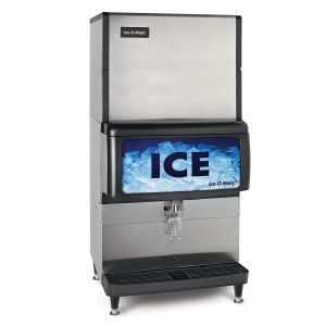 Countertop Ice Dispenser for 22″ or 30″ ICE Series Cubers or 21″ GEM Pearl Ice Machines w/ 250 Lb Ice Storage
