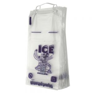 20 Lb. Ice Bags, Wicketed Bags with Handle, Cs. Of 500