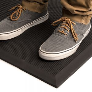 "Cactus Mat 2200-23 VIP Black Cloud Anti-Fatigue Mat - 24"" x 36"""