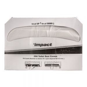Impact 1125 Toilet Seat Cover Paper - Pack of 250