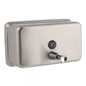 40 Oz Horizontal Soap Dispenser - Stainless Steel