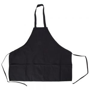 Intedge 343BLK Black 3-Pocket Bib Apron
