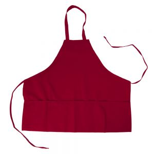 Intedge 334RD Red 3-Pocket Bib Apron