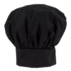 Black Chef Hat with Velcro Closure