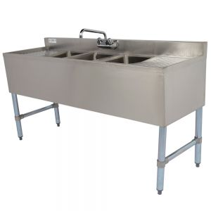 3 Compartment Stainless Steel Underbar Sink