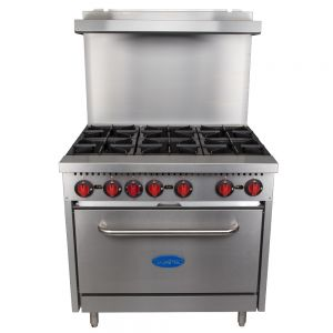 6 Burner Gas Range - 36 Inch, LP Gas