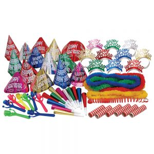 New Year's Multi-Color Party Kit For 50