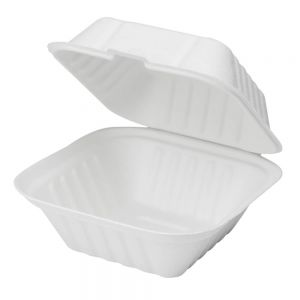 CONTAINER 6X6 HINGED BAGASSE