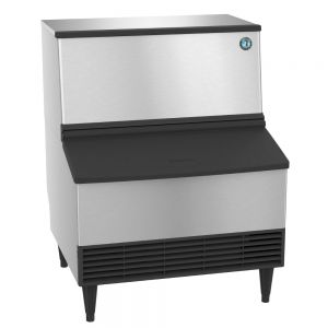 285 Lb Crescent Cube Ice Maker w/ 100 Lb Built-In Storage (Water Cooled)