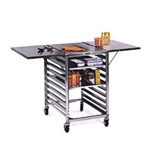 Portable Wing Table With Stainless Steel Top