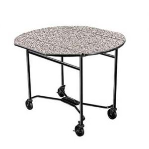Room Service Table, Drop-Leaf, Round Top