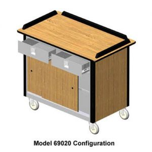 Hydration/Nutrition Cart, 44-1/2L x 24-1/2W x 37-3/4H, 2 Each Utility Drawers, Expanded Storage Comp