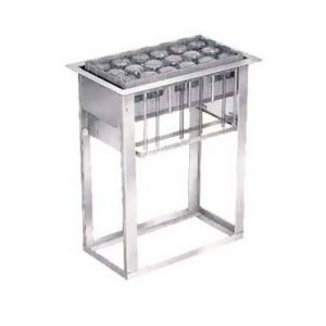 Cup and Glass Rack Dispenser, Drop-In, Self-Leveling, Acommodates Up To (6) 10 x 20 x 4 High Racks