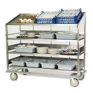 Soiled Dish Breakdown Cart, 75-1/2L x 30-7/8W x 69-1/4H