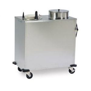 Express Heat Plate Dispenser, Two Self-Elevating Dish Dispensing Tubes, Accommodates Plate Size 5-1