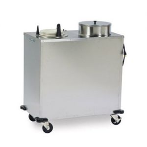 Express Heat Plate Dispenser, Two Self-Elevating Dish Dispensing Tubes, Accommodates Plate Size 8-1