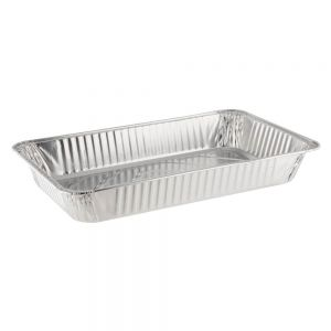Lollicup AF-STP100 Aluminum Foil Steam Table Pan - Full Size (Case of 50)