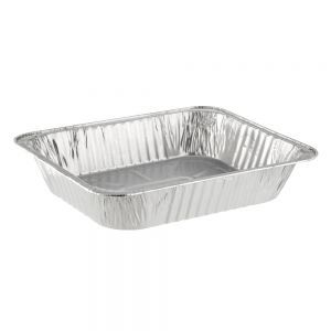 Lollicup AF-STP300 Aluminum Foil Steam Table Pan - Half Size (Case of 100)