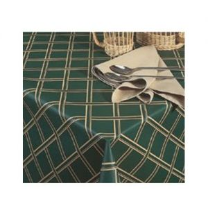 Vinyl Tablecloth, 15 Yard Roll, Classic Series, Crossweave, Forest Green