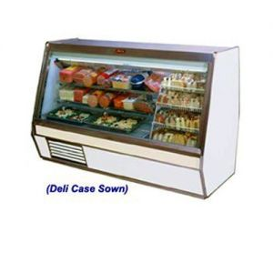 Fish Poultry Display Case, Single Duty, 50 Inch