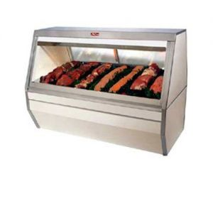 Red Meat Display Case, Double Duty, 71 Inch