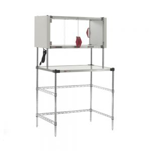 """Super Erecta Hot Workstation with Enclosed Stainless Steel Heated Shelf, 120V, 400W, 24"""" x 36"""" x 64"""""""