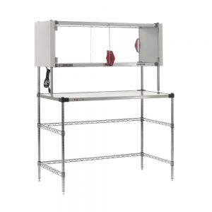"""Super Erecta Hot Workstation with Enclosed Stainless Steel Heated Shelf, 120V, 400W, 24"""" x 48"""" x 64"""""""