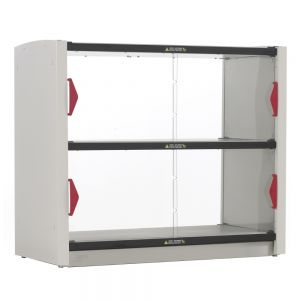 Grab and Go 2-Shelf Hot Station with Doors, 120V, 800W