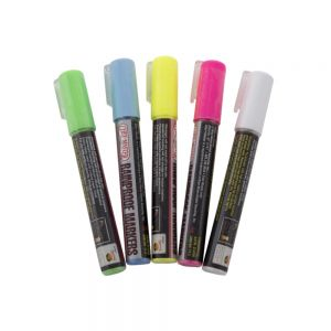 MARKERS RAIN PROOF Set OF 5