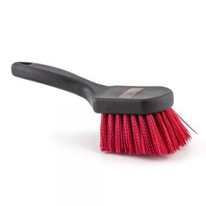 BRUSH POT 8 IN RED NYLON BRSTL